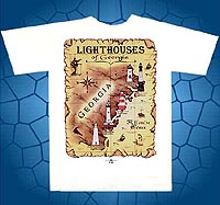 lighthouses of greorgia t-shirt