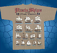 pirate ships t-shirt